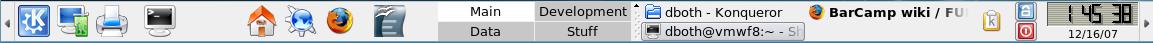 Fedora 8 KDE Panel
