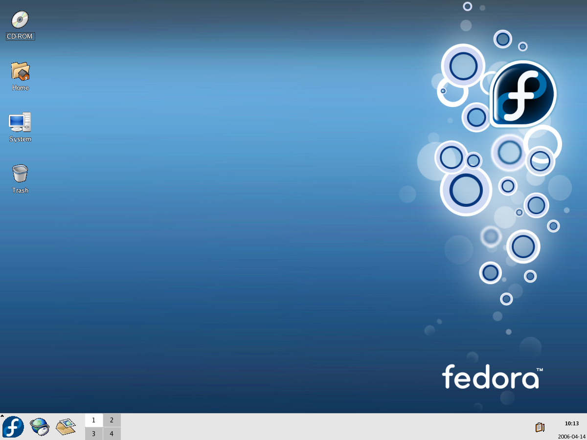Default Fedora Core 5 Desktop