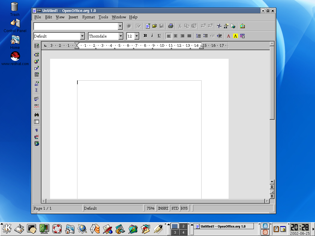 KDE With Open Office Writer